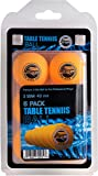 Table Tennis Ping Pong Balls - 3 Star Advanced Training Regulation Size Balls Tables Pingpong Beer Pong Ball 40mm Great for Ping Pong Tournament or Amateur Games 6 Pack Set Orange