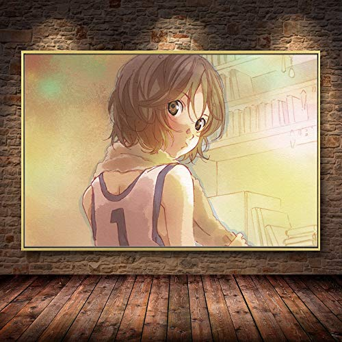 escuela de útiles escolares Halloween-Arte de anime japonés pintura al óleo lienzo carteles e impresiones Cuadros para sala de estar familiar decoración de la habitación de los niños-Sin marco40X60cm