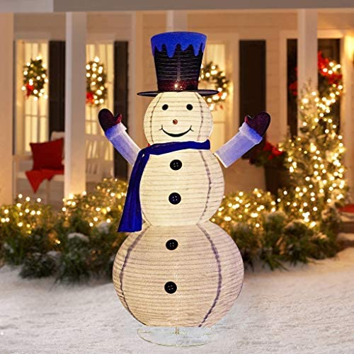 EAMBRITE 6FT LED Collapsible Snowman with 120 Lights Outdoor Lighted Christmas Snowman Plug product image