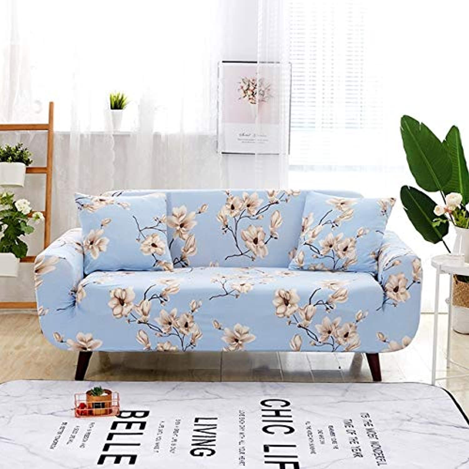 Farmerly Floral Printing Elastic Sofa Cover Tight Wrap All-Inclusive Slip-Resistant Furniture Slipcover Soft Sofa Towel 1 2 3 4-seater   color 16, Single-Seater