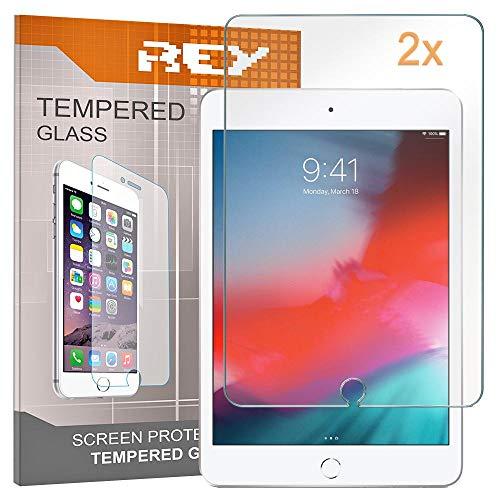 REY Pack 2X Pellicola salvaschermo per iPad Mini 5, 4, 3, 2, 1, Pellicole salvaschermo Vetro temperato, di qualità Premium Tablet