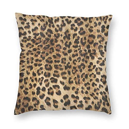 SUN DANCE Fundas de cojín de terciopelo con estampado de leopardo, 45,7 x 45,7 cm para decoración de sofá, bancos