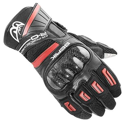 Berik Short-X Motorrad Sport Handschuhe 2.0 kompromisslose Sicherheit (Rot,L)