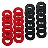 Ampper 24 Pieces Battery Terminal Anti Corrosion Washers, Battery Terminal Post Fiber Washers Protector (12 Red and 12 Black)