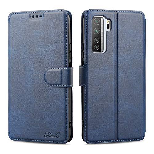 Keallce für Huawei P40 Lite (5G) Hülle, Handy Lederhülle PU Leder Hülle Brieftasche Handytasche Cover Kompatibel für Huawei P40 Lite (5G) Ledertasche-6.5