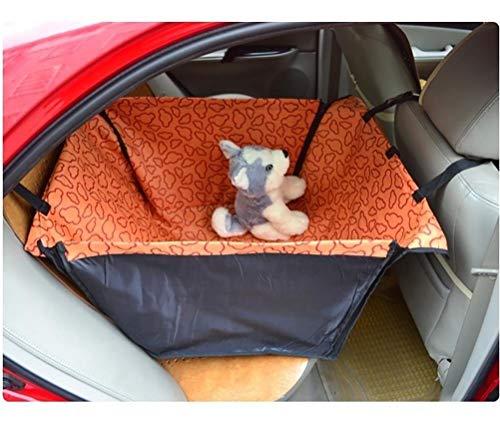 LALAWO huisdier auto wieg kussen auto achter stoel kussen beschermer, waterdichte huisdier hond kat veiligheid reizen stoel kussen doghouse hangmat deken deken cover, Orange clouds