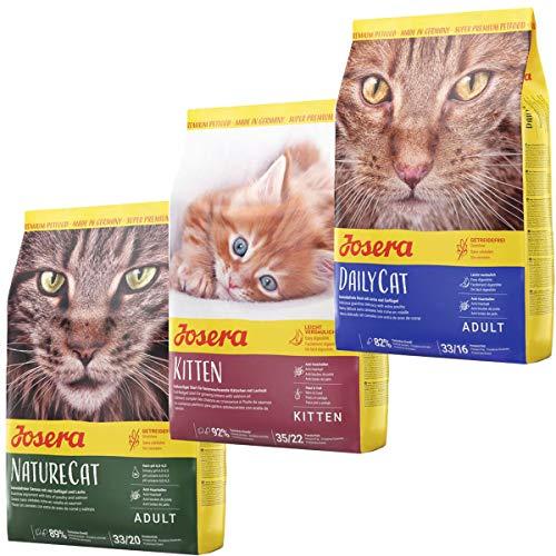 Josera Die Gourmetvariation für die Katze: je 2 kg NatureCat, Kitten & DailyCat