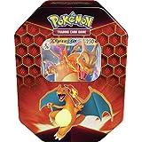 Lively Moments Naipes de Pokemon Caja de Lata Sun&Moon Hidden Fates Charizard-Gx en Inglés Trading Cartas Game / Glurak Caja Metálica