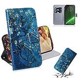 Cas de téléphone portable en cuir Étui en cuir à rabat horizontal avec motif coloré et motif de...