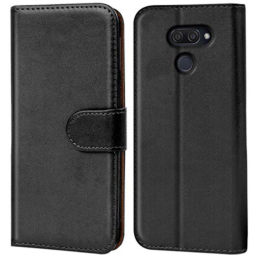 Verco LG K50 Hülle, Handyhülle für LG K50 Tasche PU Leder Flip Hülle Schutzhülle Brieftasche - Schwarz