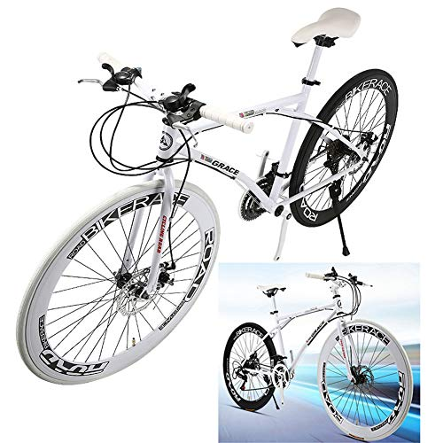 NYANGLI Trekking Fahrrad Cross Trekkingräder, 26 Zoll MTB Erwachsener Land Gearshift Stahl-Rahmen Fahrrad, Variable Speed Fahrrad, Hardtail Mountainbike Mit Verstellbarem Sitz,26inch,21 Speed