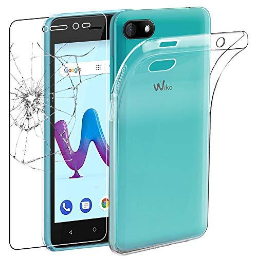 ebestStar - kompatibel mit Wiko Sunny 3 Hülle Sunny3 Handyhülle [Ultra Dünn], Durchsichtige TPU Schutzhülle, Soft Flex Silikon, Transparent +Panzerglas Schutzfolie [Phone: 146.7x74x9.95mm 5.0