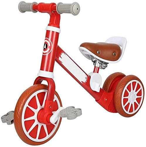 Pkfinrd Kinderbalansfiets, 3 in 1 met pedaal binnen en buiten Draagbare driewieler, driewieler glijdende auto Baby Balance Auto