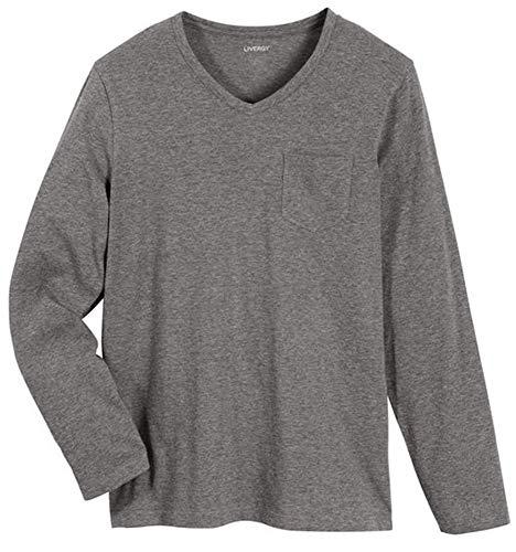 Livergy Herren Pyjama (Grau - Blau, 56/58)