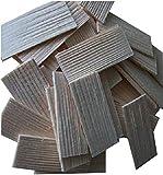 Dachschindel aus Fichtenholz. Krippenbau, Modellbau. 55x22-25 mm. 100 St Naturbelassen