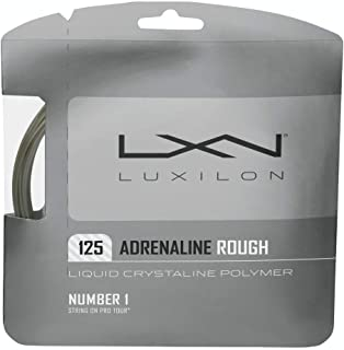 Luxilon Adrenaline Rough 16 Gauge - 125 Polyester (Poly) Tennis Racquet String Set in Multi-Packs - Best for Spin, Playability, and Durability (2-4-6-8-Packs)
