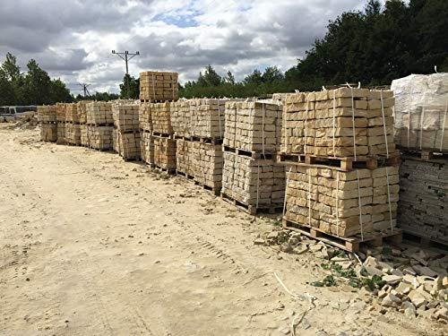 Sandstein Mauersteine ca. 10x20x40 cm, allseitig gespalten