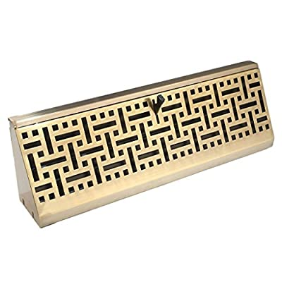 Accord AMBBABB15 Baseboard Register with Wicker Design, 15-Inch(Duct Opening Measurement), Antique Brass