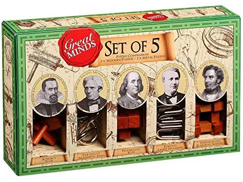PROFESSOR PUZZL Great Minds Set of 5 Puzzles (Men)