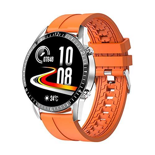 YDL Smart Watch I9 Pantalla Táctil Bluetooth Mano Gratis SmartWatch Hombres Mujeres Fitness Tracker Tarifa Cardíaca Llamada Mensaje Music Band (Color : Orange)