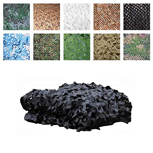 Camouflage Sunshade Net Oxford Cloth Sunscreen Tent, Black Camouflage Net Garden Hunting Shot 2x3m, Theme Party Large Event Venue (Size : 4x9m)