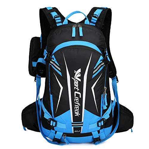 Ynport Crefreak Fahrradrucksack, 20 l, wasserabweisend, für Outdoor, Klettern, Wandern, Reiten., blau, Einheitsgröße