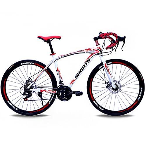 Bicicletas De Carretera De 26 Pulgadas, 24 Velocidades Bicicleta De Montaña Universal De Cross-Country para Hombres Y Mujeres,Frenos De Doble Disco Absorción De Impactos-4