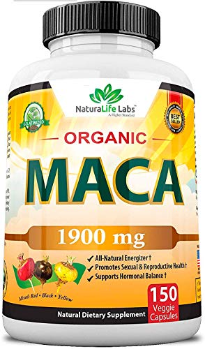 Raíz de Maca Orgánica de NaturaLife Labs | Suplemento | Negro, rojo, amarillo...