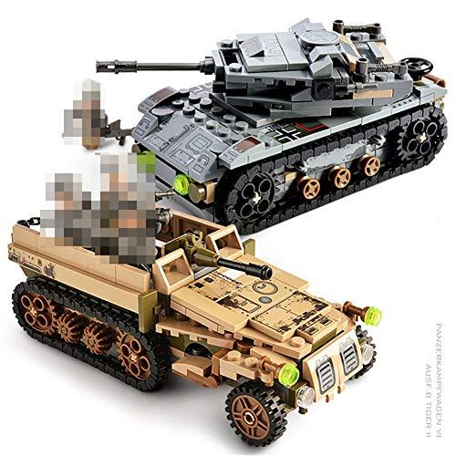 Tank bouwpakket mini model auto vliegtuig jongen educatieve compatibele blok bakstenen (Color : 101324)