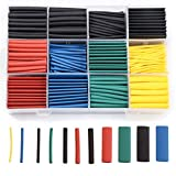 aeliussine 530pcs Heat Shrink Tubing Kit Shrink Wrap Insulation Shrinkable Tube Assortment Electronic Polyolefin Ratio 2:1 Wrap Wire Cable Sleeve Tubes Kit