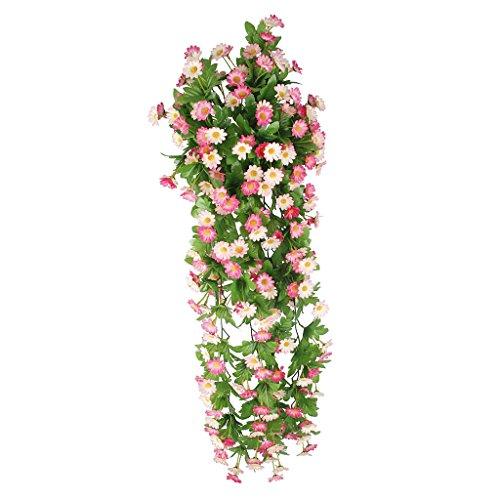 Vid de Flor Margarita Artificial Colgante Decoración para Boda Hogar - Rosa