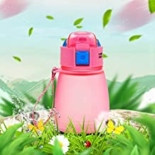 YMYN AYSMG 308ml Food Grade Plastic Child Cute Sippy Water Bottle(Pink) (Color : Pink)