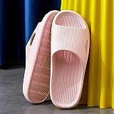 Nwarmsouth Sommer Slippers Leicht Soft,rutschfeste Sandalen für den Haushalt, Badeschuhe für das Bad-pink_38-39,Leichte Saunaschuhe