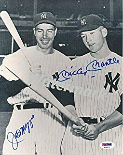 Mickey Mantle & Joe DiMaggio Yankees Dual-Signed 8x10 Photo 142197 - PSA/DNA Certified - Autographed MLB Photos