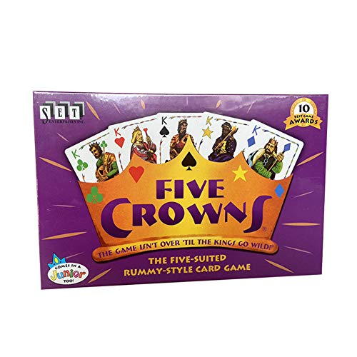 ISAKEN Crowns Card Game, English Version Poker Board Game, Five-Star Crown Card Games Fun Desktop Rummy Card Game Friends Family Party Board Game