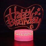 Feliz cumpleaños Tema luz Noche luz Cambio de Color Toque Humor luz