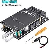ZHITING Modulo scheda amplificatore Bluetooth 2x50W Scheda amplificatore audio stereo digitale DC a doppio canale 5V-27V con filtro HiFi