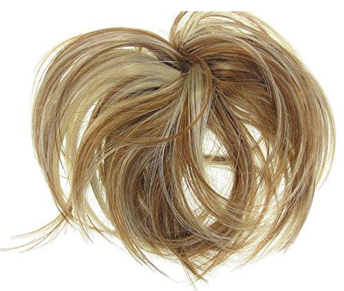 246 VANESSA GREY Toutes les couleurs disponibles, Chouchou Avec Extensions Bouclées Pour Chignon Haut Ou Bas Blond Naturel Multi Tons
