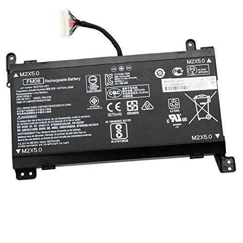 HUBEI 14.4V 86Wh 5973mAh FM08 Batería para Laptop de reemplazo para HP Omen 17-AN013TX 17-AN014TX 17-AN014NG TPN-Q195 Serie 922753-421 922977-855 HSTNN-LB8B Conector de 16 Clavijas
