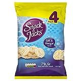Snack Jacks Salz & Essig Reiskuchen 4 X 22G (Packung mit 4) -