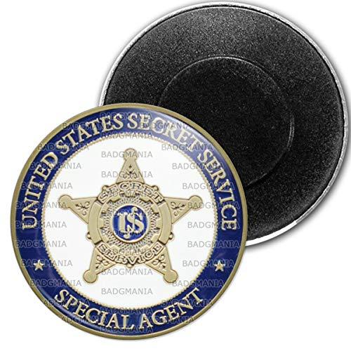 Badgmania Magnet Aimant Frigo 5.9 cm USA Service Secret United States Secret Service Special Agent Etoile