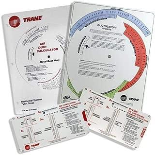 Trane Ductulator and Charging Calculator Kit - Trane Flex Ductulator with Sleeve, Metal Ductulator, R-22 Charging Calculator, R410A Charging Calculator