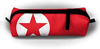 HTSS North Korea Flag Pencil-box Pouch Pencil Holders Pencil Pen Casewith Zipper Stationery Bag Sewing Kit