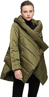 WODOWEI Women's Cloak Down Coat Hooded Winter Jacket