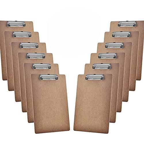Acrimet Portapapeles Tamaño Carta A4 (33 cm x 23 cm ) con Clip Metálico Bajo Perfil (12 Unidades)...