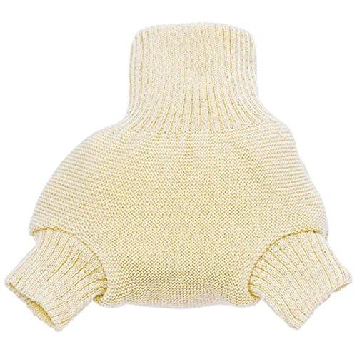 Disana - Pantalones de bebé, para llevar con pañal, de lana de merino, ecológicos