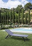 UNOPIU Tumbona Panareea + techo de bronce para decoración de jardín exterior