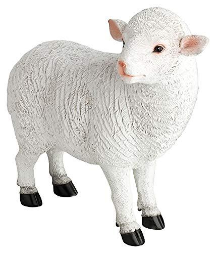 1PLUS Figura de oveja para jardín, decoración de jardín, de piedra artificial, bonita decoración para el jardín