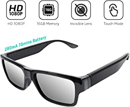 Sunglasses with Mini Camera FHD 1080P Video Recording, Wearable Surveillance DVR Glasses Camera with Remote Control, Convince for Evidence Collection, Daily Life/Excellent Moments Record.