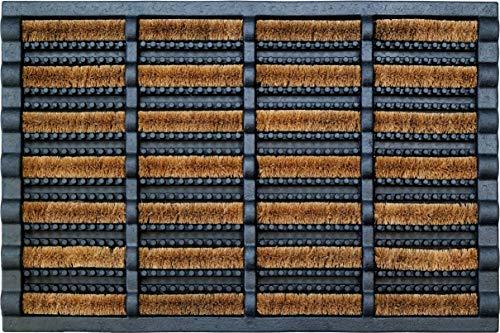 ID Mat 4060 Combimat Tapis Paillasson Fibre Coco/Acier Galvanisé/Caoutchouc Beige 60 x 40 x 2,29 cm